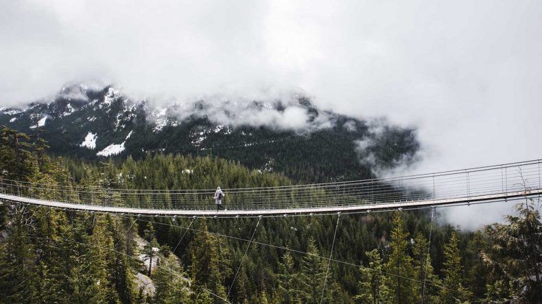 Nevenkitzel vorprogrammiert auf der Suspension Bridge