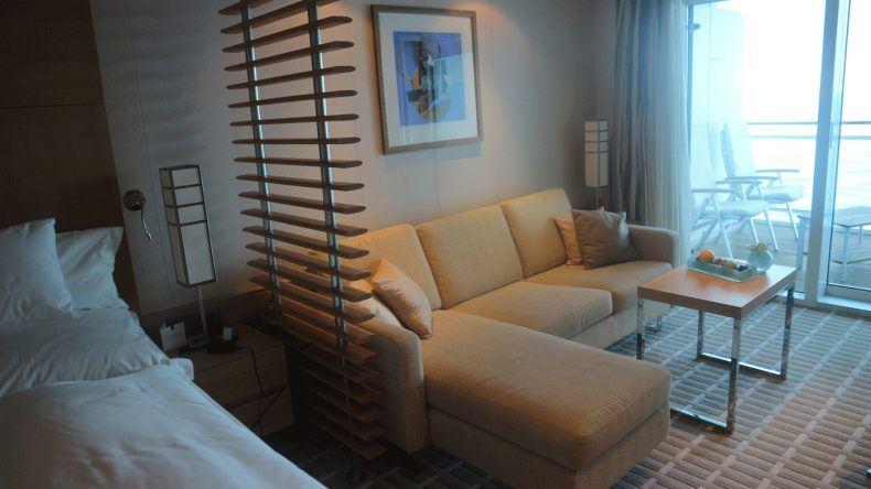 Die Veranda Suite ist sehr modern eingerichtet.