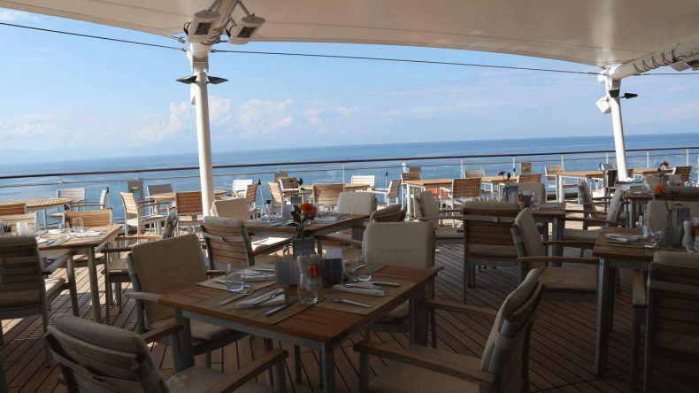 Im Yacht Club könnt ihr ab 7 Uhr frühstücken