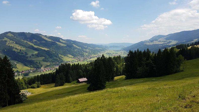 Blick von der Hündle Bergstation Richtung Alpsee.