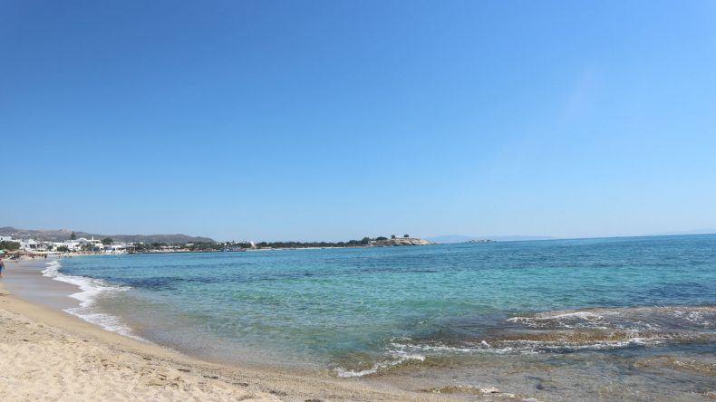 Ein bezaubernder Strand auf Naxos