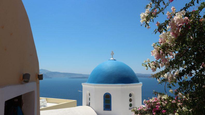 Typisch Griechenland: Die blauen Kuppeln