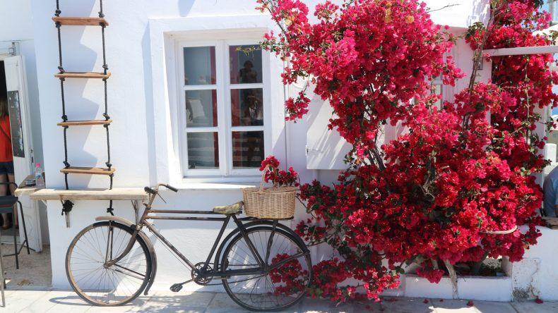 Fahrrad in Oia