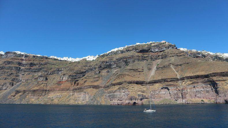 Der unbezahlbare Blick auf das schöne Santorin