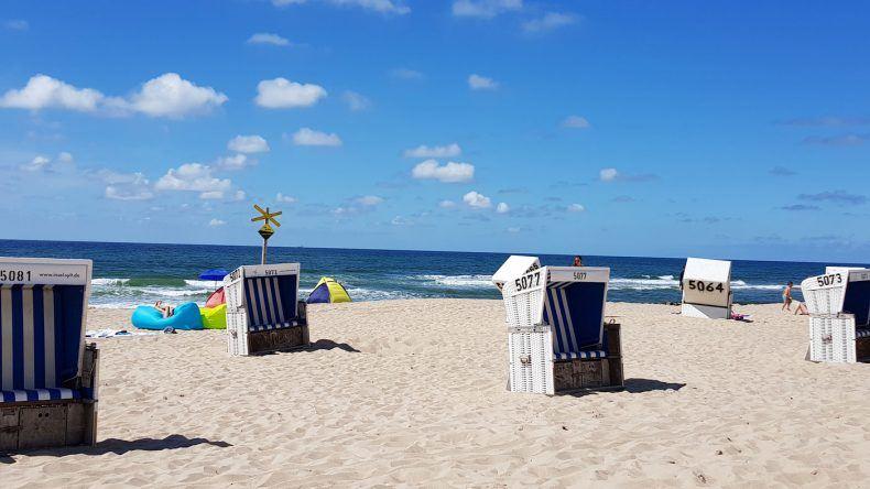 Erstmal im Strandkorb entspannen und Aussicht aufs Meer genießen!