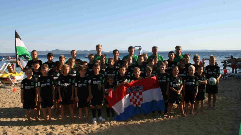 Die Teilnehmer des Fußballcamps