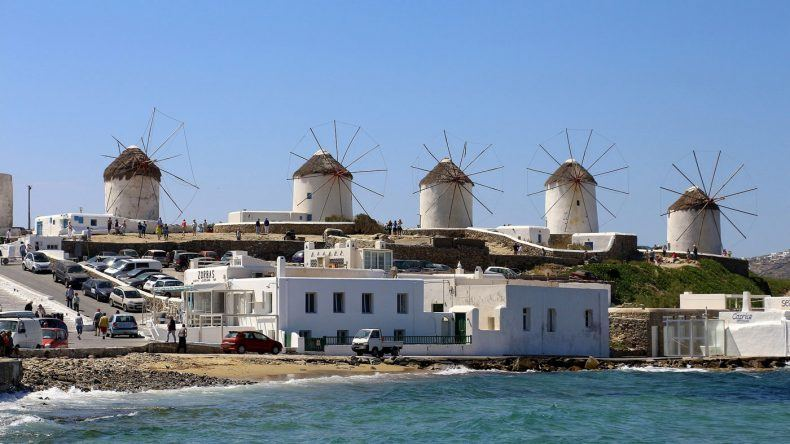 Windmühlen auf Mykonos