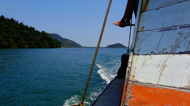 Entspannte Bootsfahrt