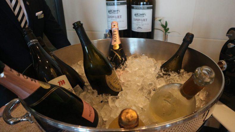 Champagner im Eiskübel