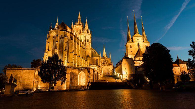 Blick auf den Dom St. Marien, Severikirche (Copyright: Marco Fischer)