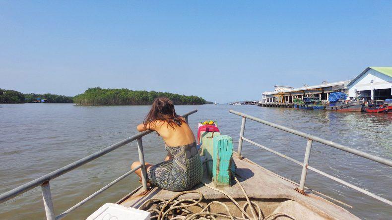 Einfache Bootsfahrt