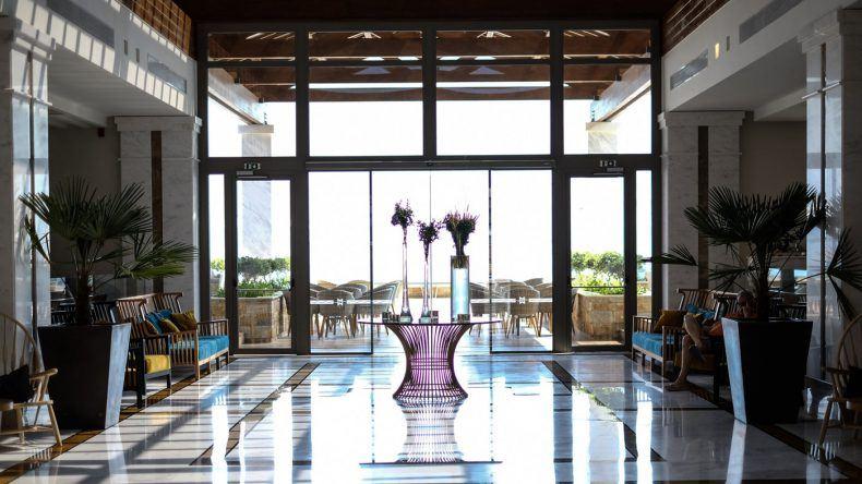 Die stilvolle Hotellobby