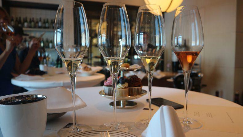 Vier Champagner probieren wir beim Champagner Tasting.