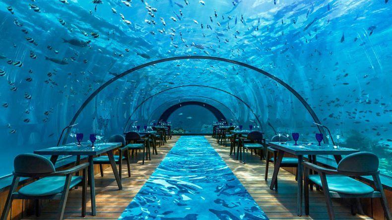 Unterwasser Restaurant: 5.8 Undersea-Restaurant Maldiven