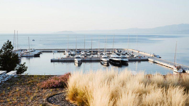 Ausblick auf den Yachthafen