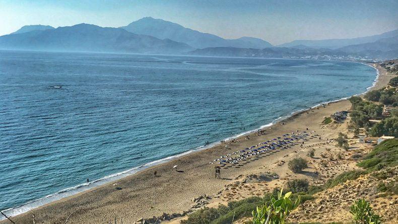Ausblick auf den Kommos Beach.