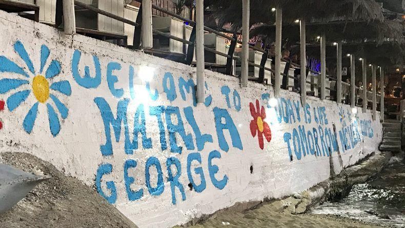 Matala-Graffitti auf Kreta in Griechenland