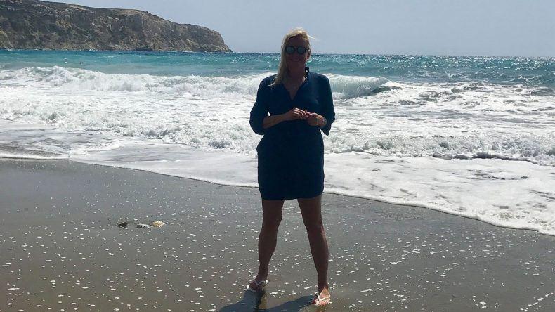 TUI Bloggerin Sandra am Kommos Beach auf Kreta.