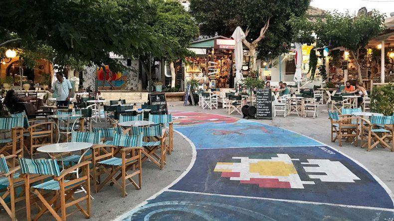 Straßenmalereien in Matala auf Kreta