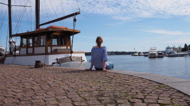 Der Hafen von Helsinki und Ich