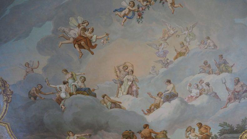 Deckenkunst im Palast