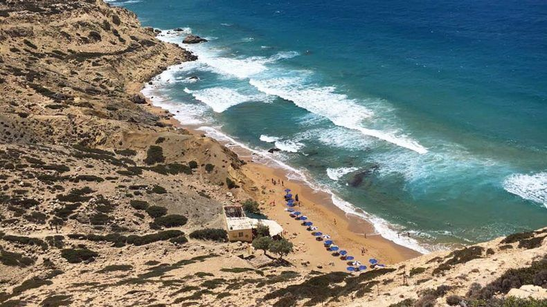 Der Red Beach im Süden von Kreta.