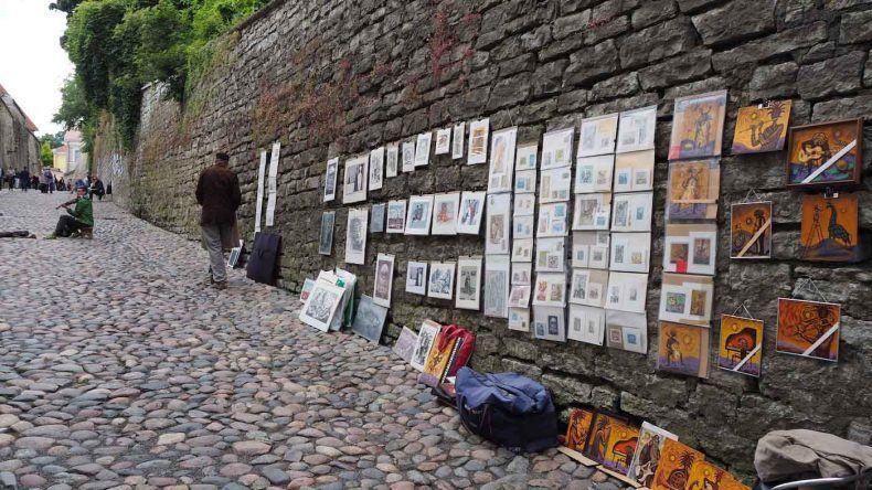 Künstler in Tallinn auf der Straße