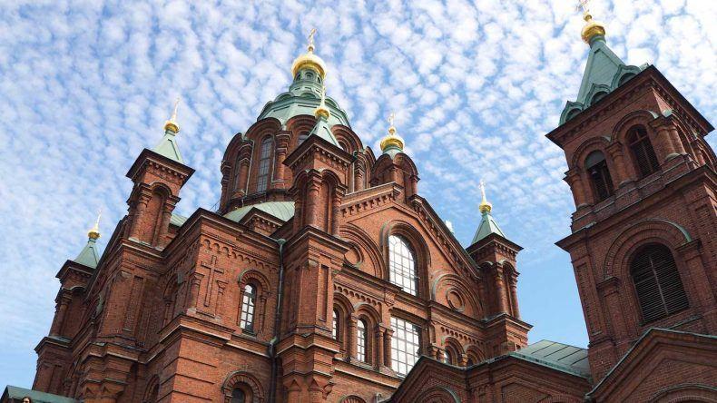 Die schöne Kathedrale in Helsinki