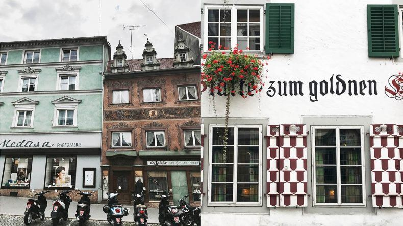 Alte Fassaden in Bregenz.