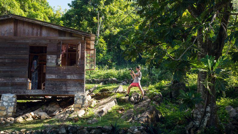 Eine Hütte im Nichts: Hier bei dem Roaring River