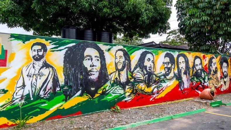 Bob Marley ist natürlich überall auf Jamaika sichtbar