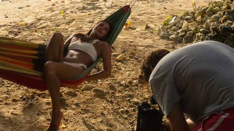 Relaxen in der Hängematte am Half Moon Beach