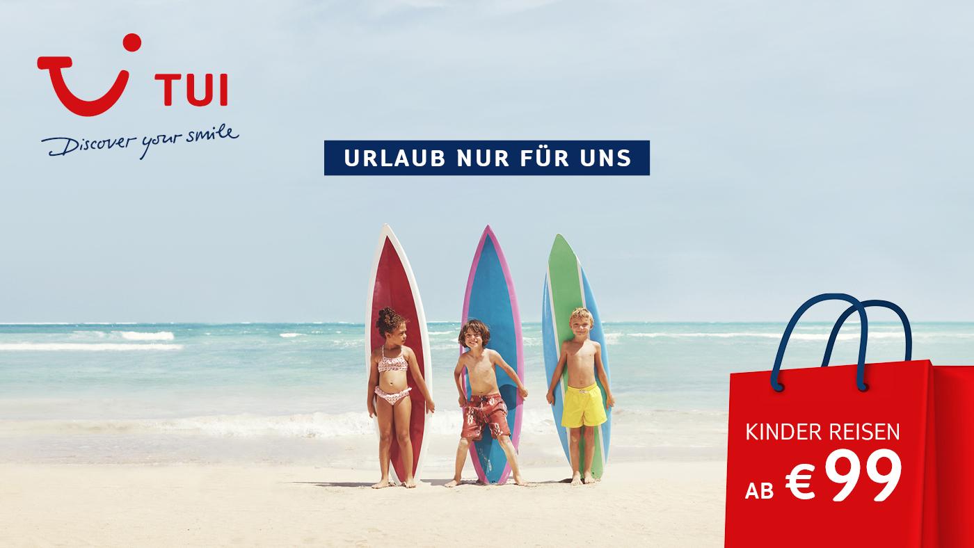 Kinder reisen ab 99 Euro in den Sommerurlaub mit dem TUI Kinderfestpreis