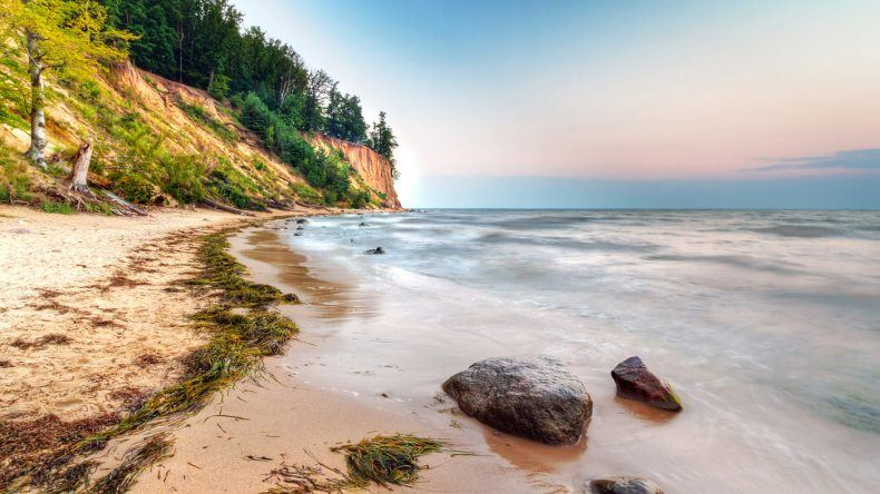 Cliff of Orwolo an der Polnischen Ostsee