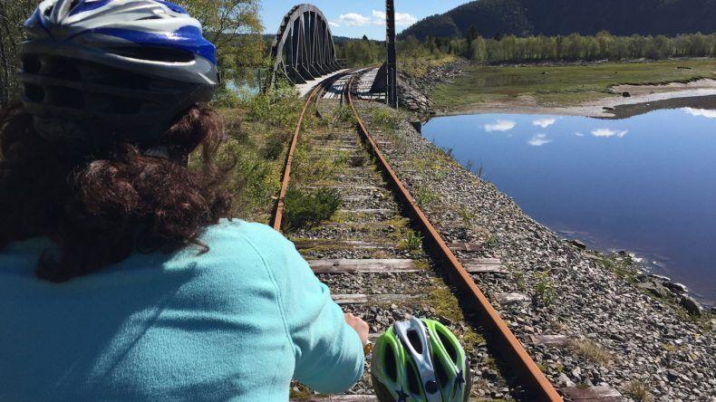 Draisinenfahrt in Namsos