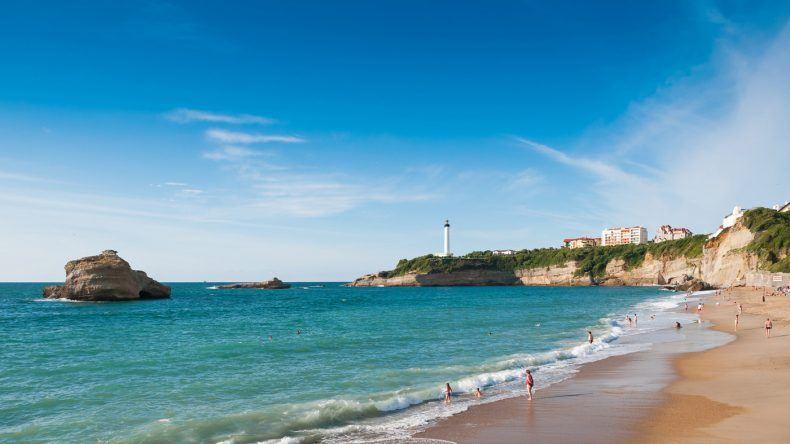 Frankreich Strand: Plage de la Cote des Basques, Biarritz