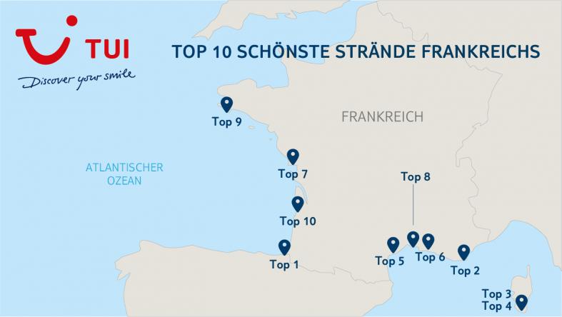 Unsere TOP 10 Strände Frankreichs