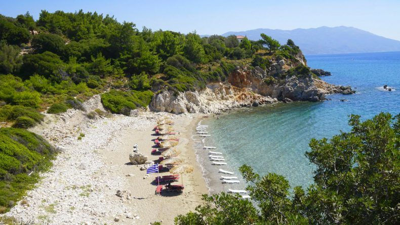 In meiner TOP 5 der schönsten Samos Strände: Tripiti Beach