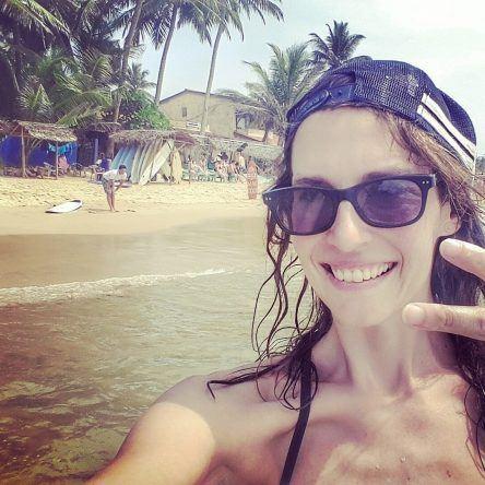 Anja auf Sri Lanka