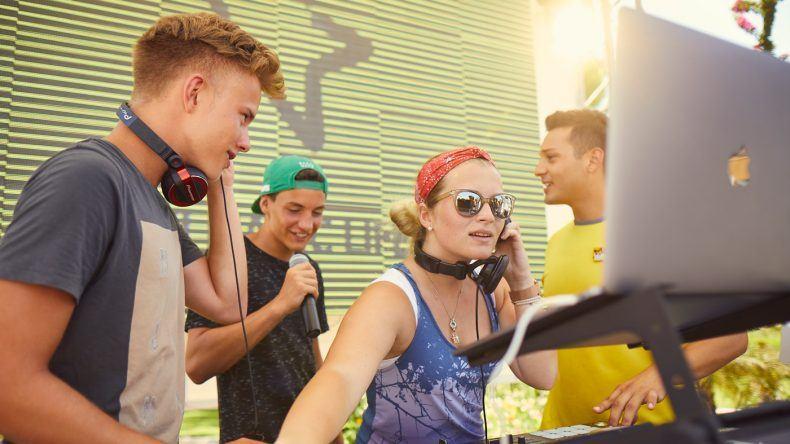 Auch der DJ Workshop für Tennager ist neu