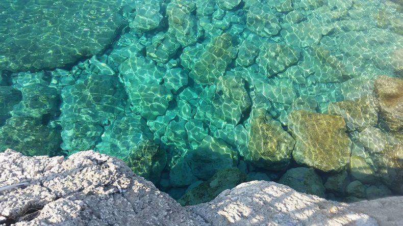 Unfassbar klares Wasser bei Kolymbia
