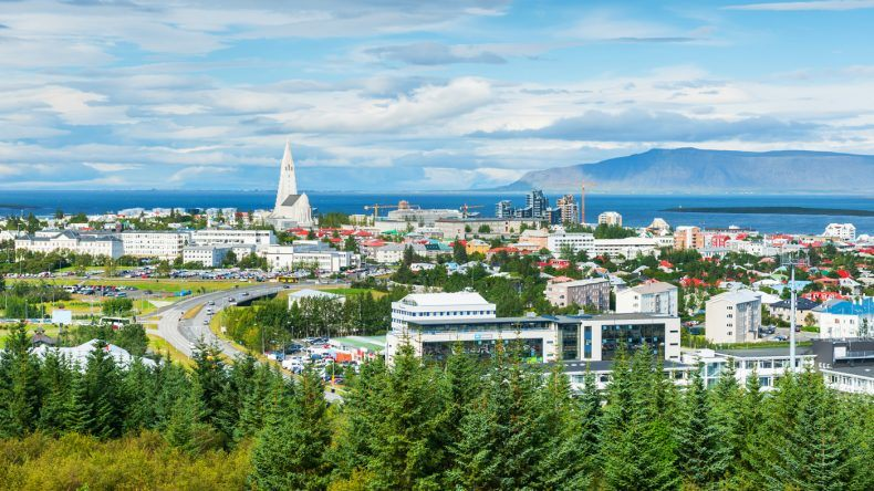 Panoramablick über Reykjavik