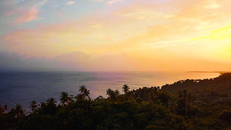 1. Sonnenaufgang am Macao Beach in Punta Cana