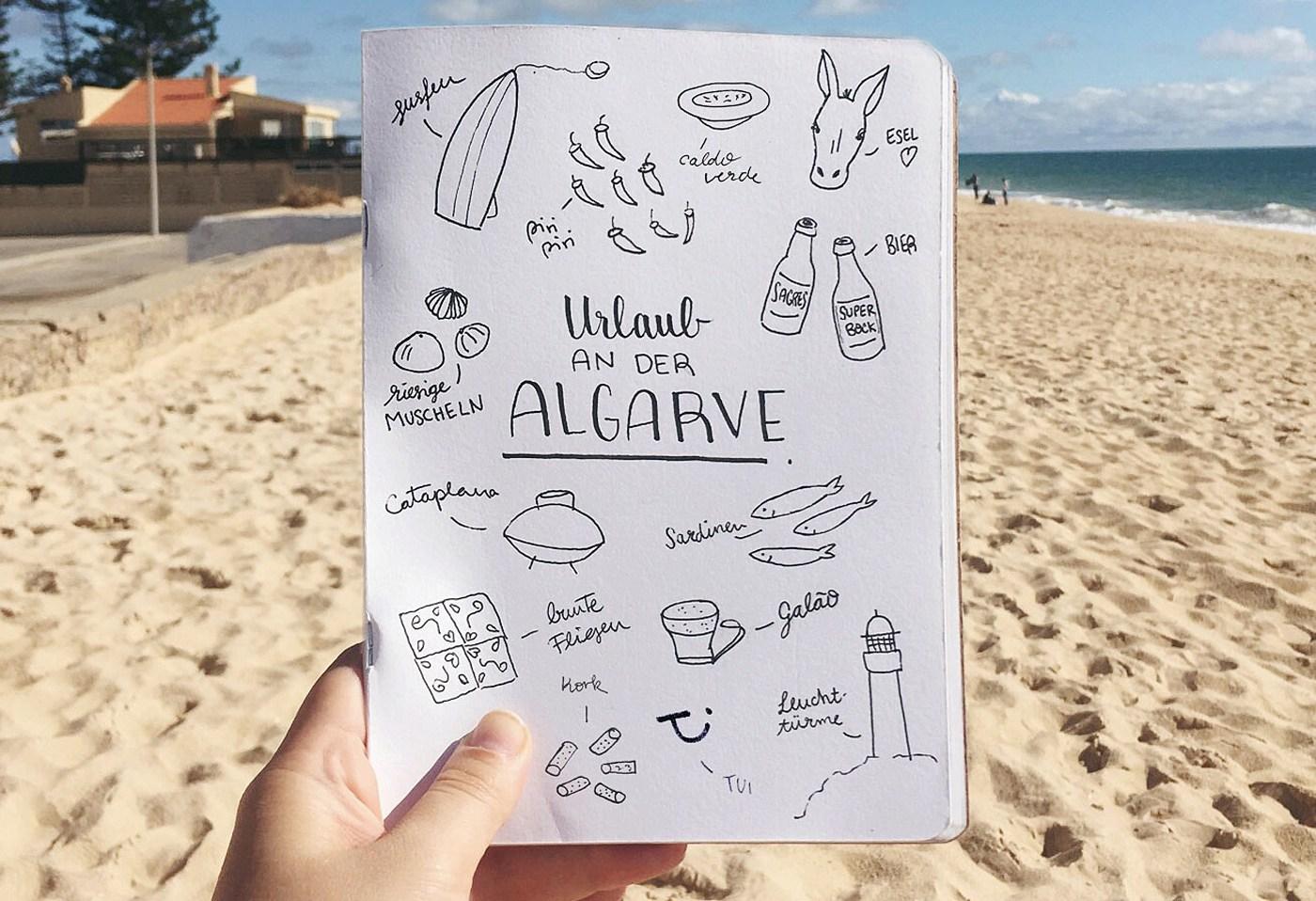 Mein Aufenthalt an der Algarve in einem Bild