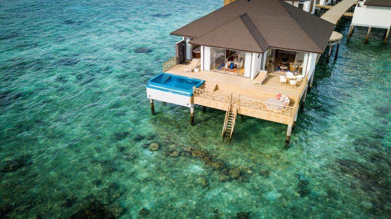 Luxus der Extraklasse: Die riesige Präsidentensuite mit Pool und Meerzugang
