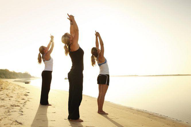Auch Yoga am Strand ist hier möglich