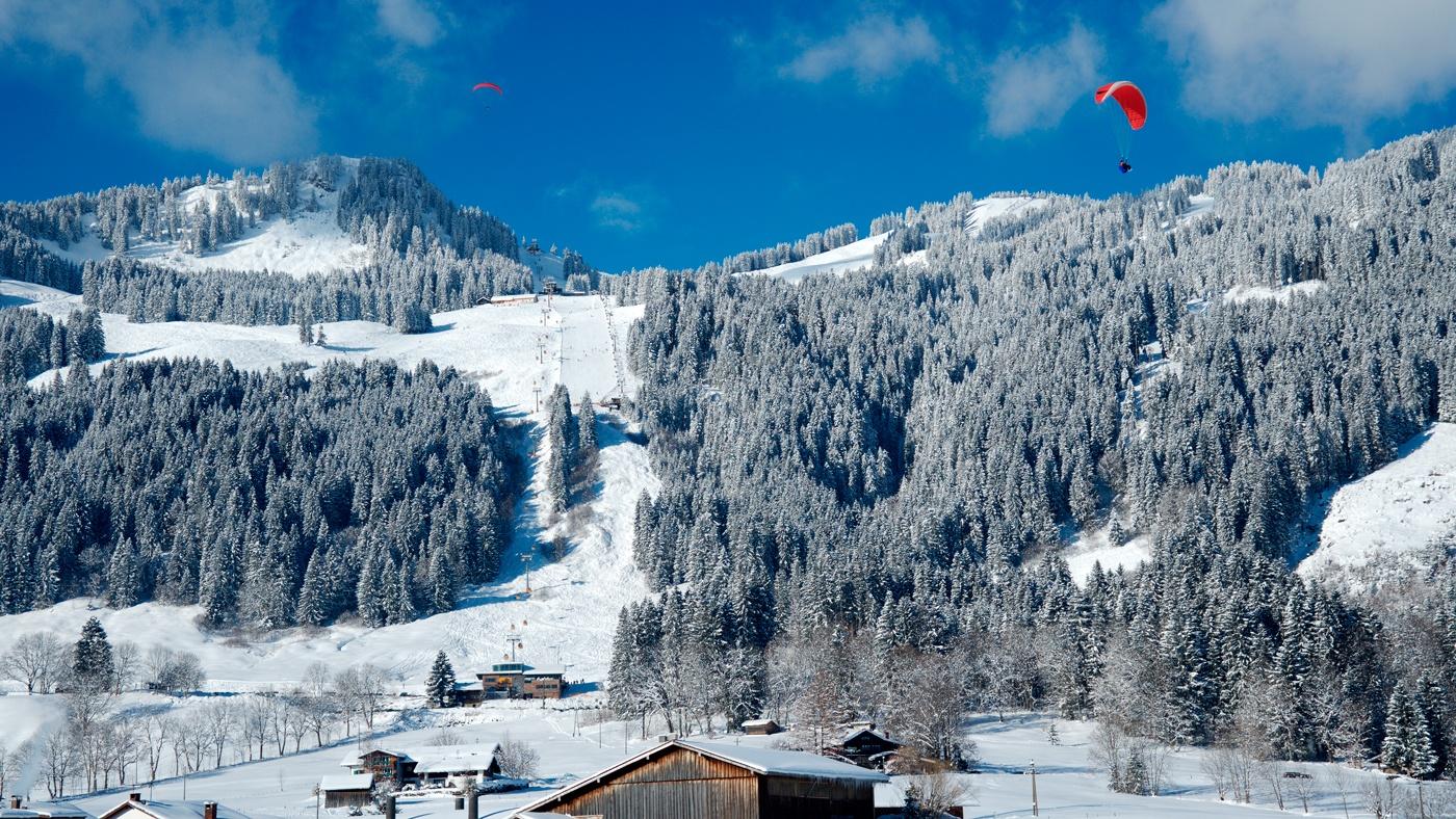 Das Skigebiet Hörnerbahn Bolsterlang