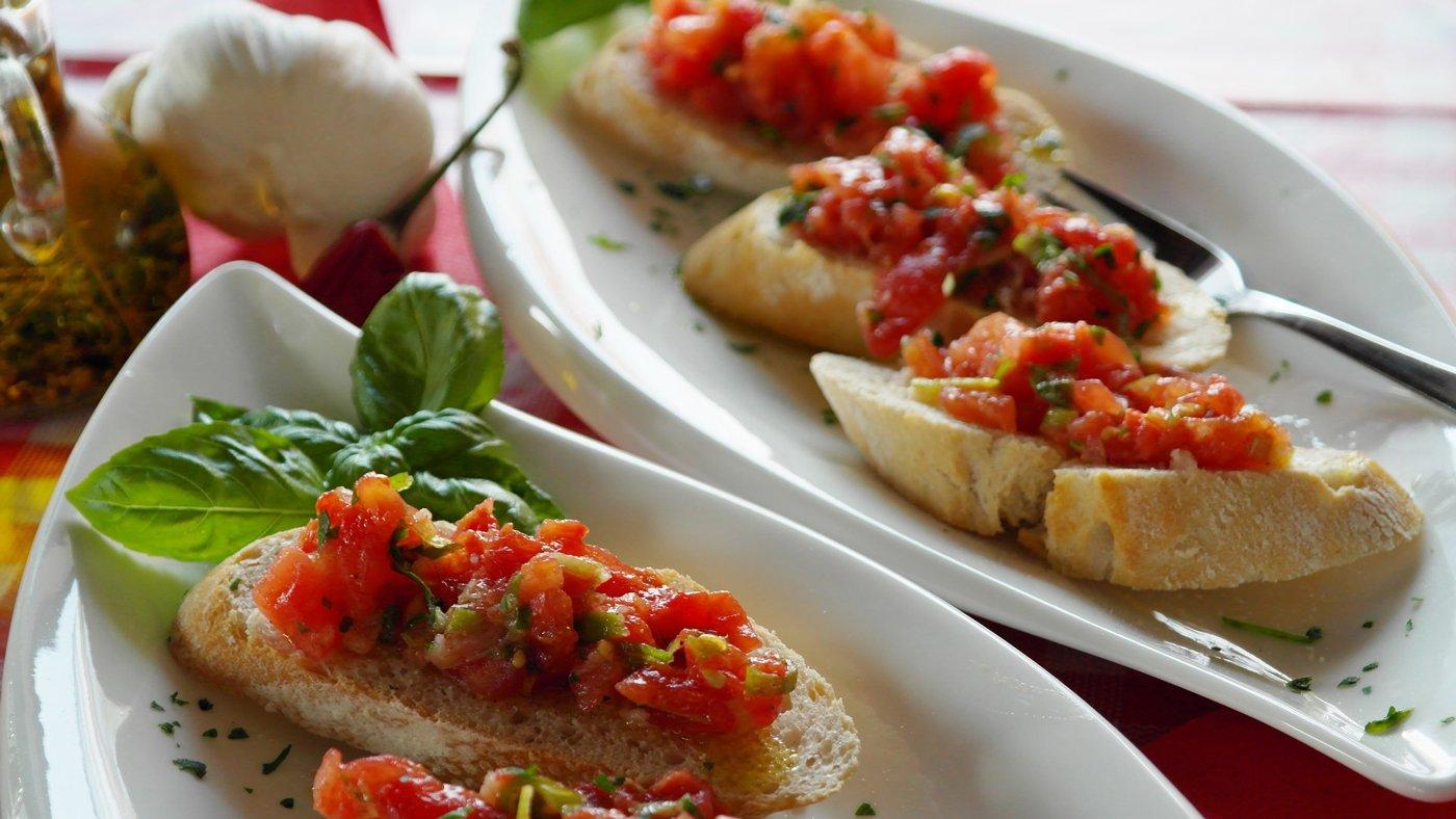 Bruschetta als Vorspeise? Muss sein in Italien!