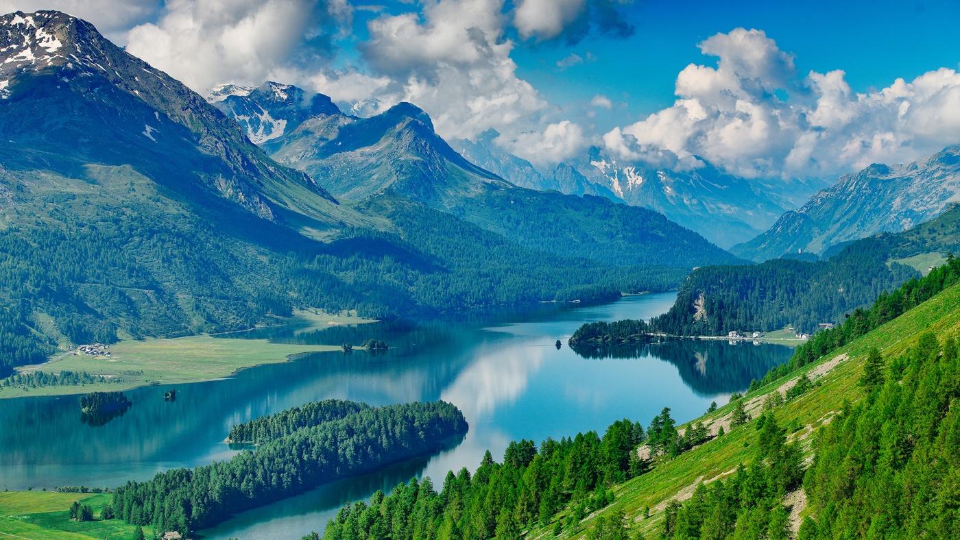 Das schöne Engadin in der Schweiz
