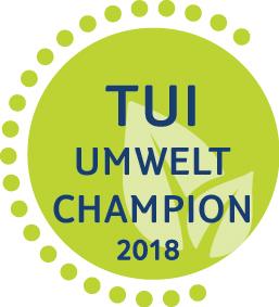 Das Signet des TUI Umwelt Champion